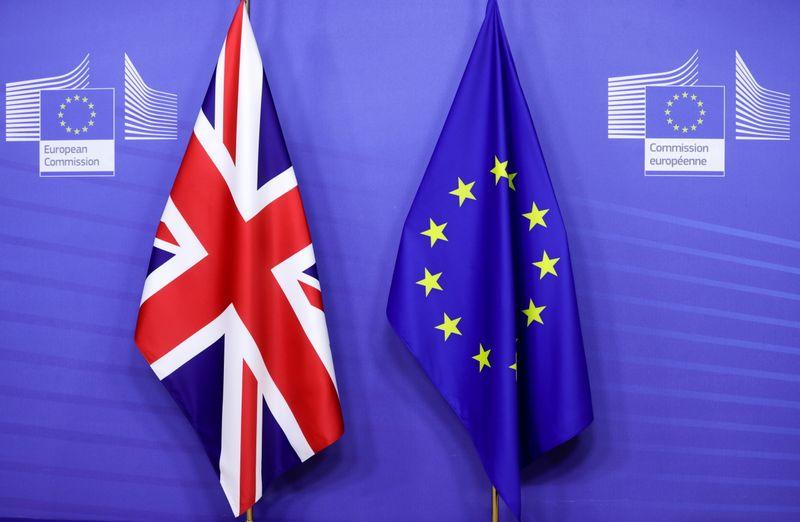 EU post-Brexit imports from UK halve in Jan-Feb, trade surplus rises