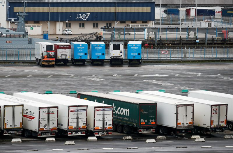 UK eases post-Brexit controls on vehicles taking goods to the EU