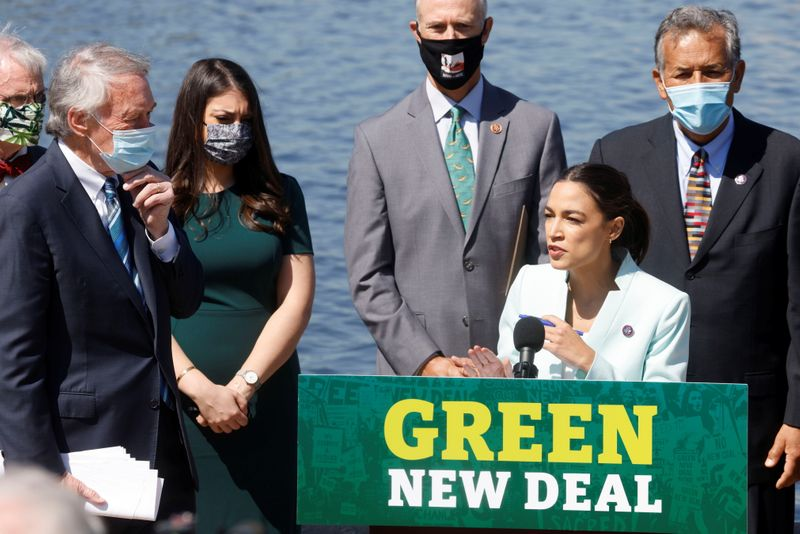 Ahead of Biden's climate summit, lawmakers relaunch 'Green New Deal'