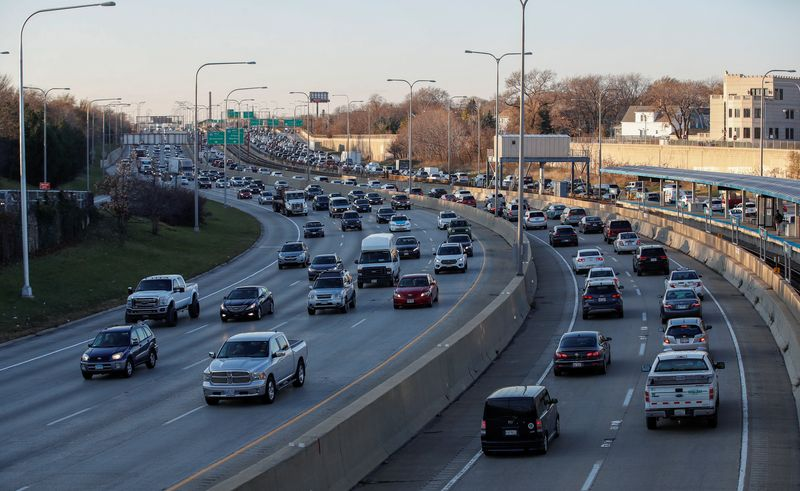 Travel on U.S. roads fell 12.1% in February over 2020 levels