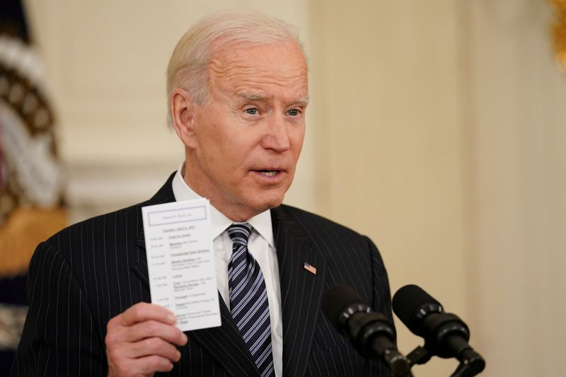 Biden offers tax credits for COVID-19 vaccination paid time off