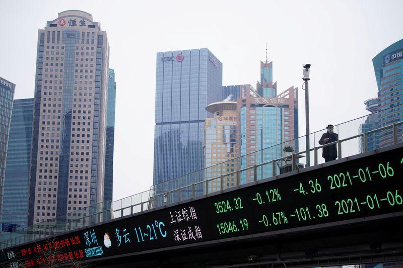 Китайские акции закрылись снижением из-за напряженности между США и Китаем
