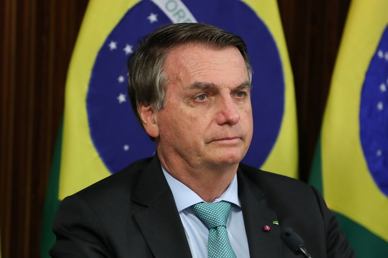 Brazil's Bolsonaro says military would follow his orders to take the streets