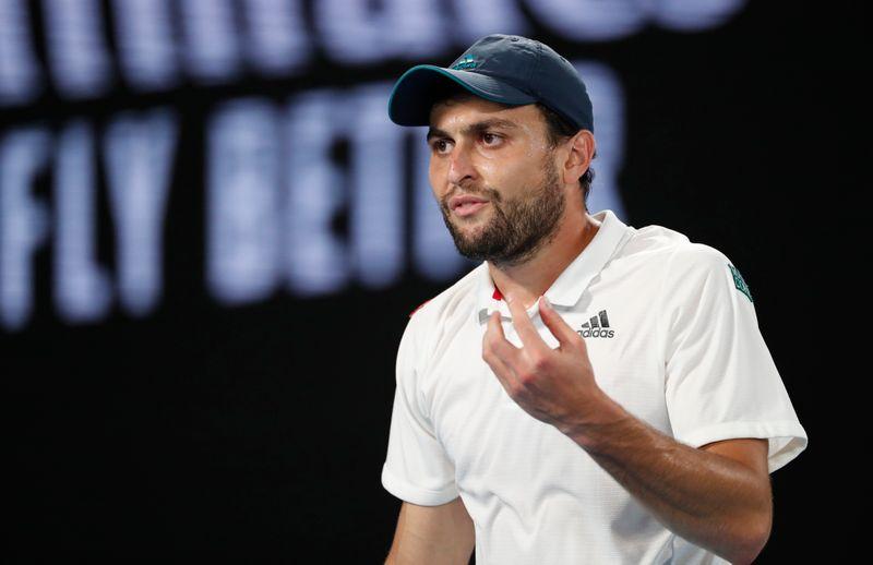 Tennis-Karatsev stuns Djokovic to reach Serbia Open final