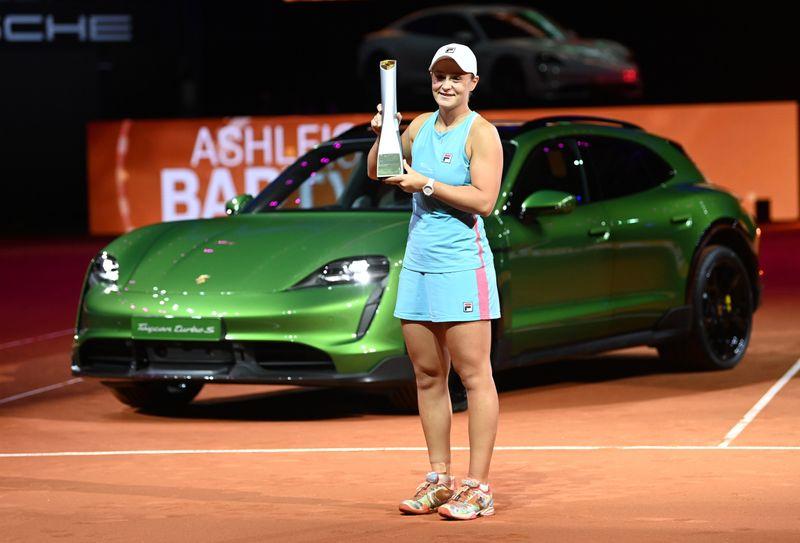 WTA roundup: Ashleigh Barty rallies to win Stuttgart title