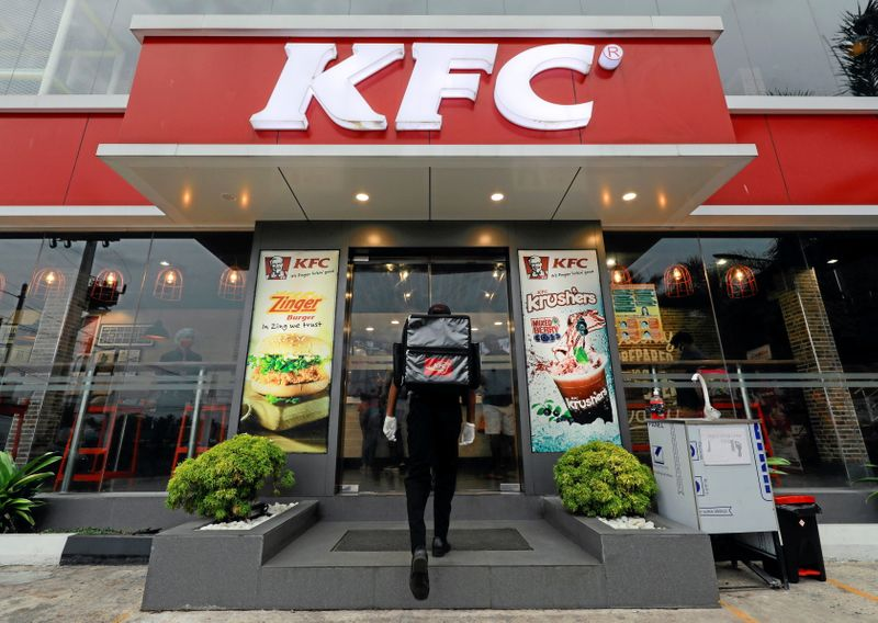 Easing pandemic curbs boost sales at Yum's KFC, Pizza Hut chains