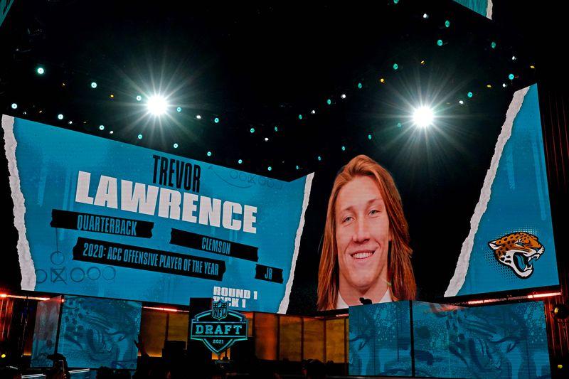 NFL-Jaguars select quarterback Lawrence with top pick in quarterback-stacked NFL Draft