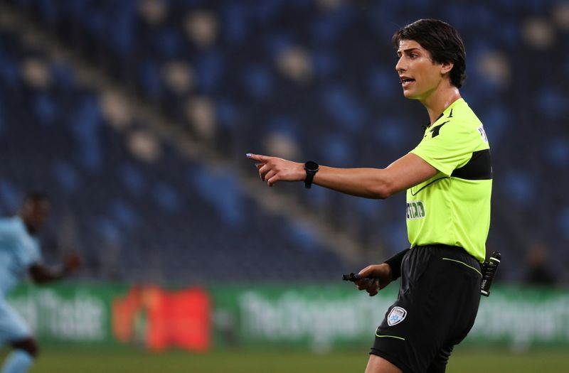 Transgender soccer referee makes Israeli sports history