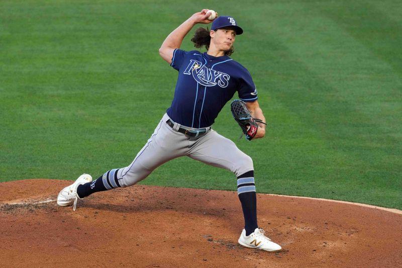 MLB roundup: Tyler Glasnow, bullpen carry Rays past Angels