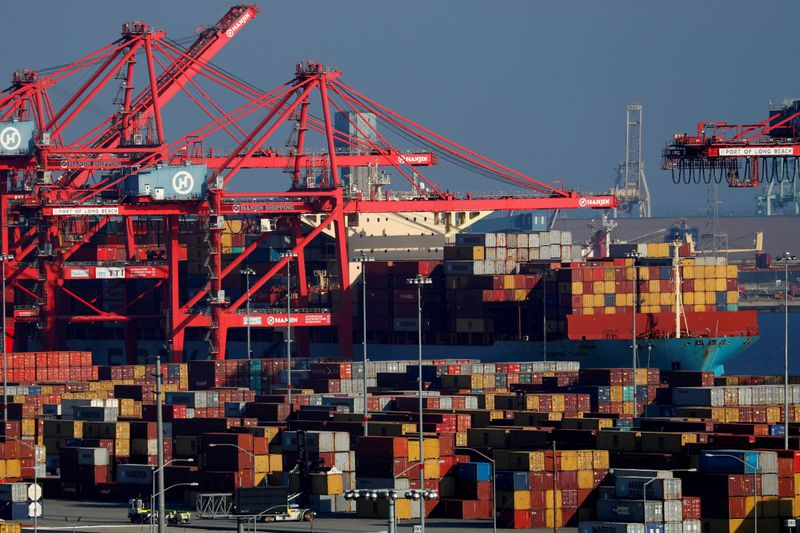 U.S. trade deficit hits a record high amid pent-up demand