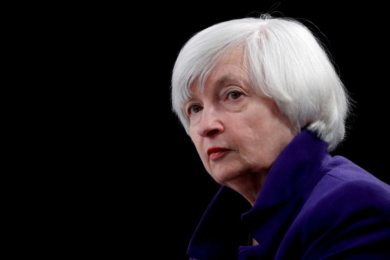U.S Treasury's Yellen downplays inflation, rate hike concerns