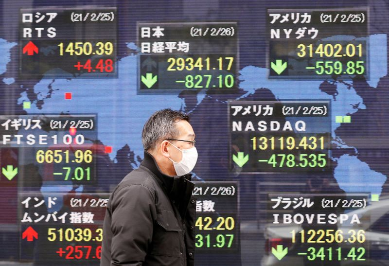 Asia shares subdued by tech retreat, U.S. futures steady By Reuters