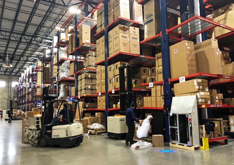 U.S. wholesale inventories rise solidly in March