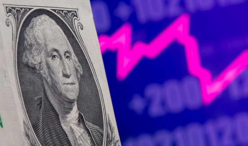 Dollar rises moderately on jump in U.S. inflation