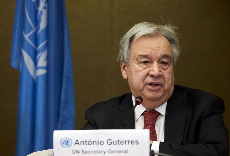 新型コロナワクチンの生産能力2倍に拡大を、国連事務総長が訴え