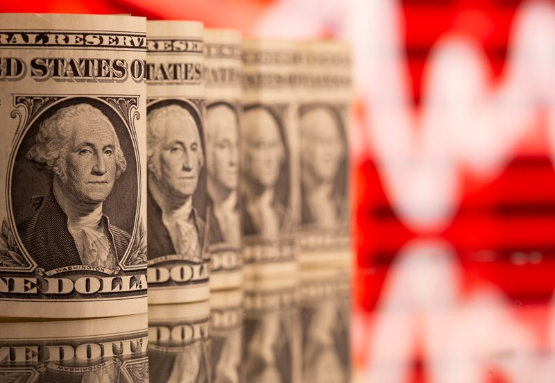 Dollar lower after weak data, as inflation fears ease