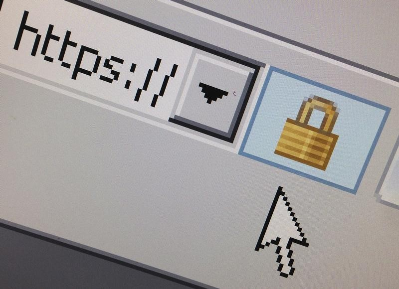 © Reuters A lock icon, signifying an encrypted Internet connection, is seen on an Internet Explorer browser in Paris