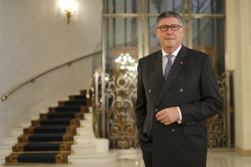 © Reuters. Didier Le Calvez, managing director of the luxury hotel Le Bristol, poses for a picture in Paris