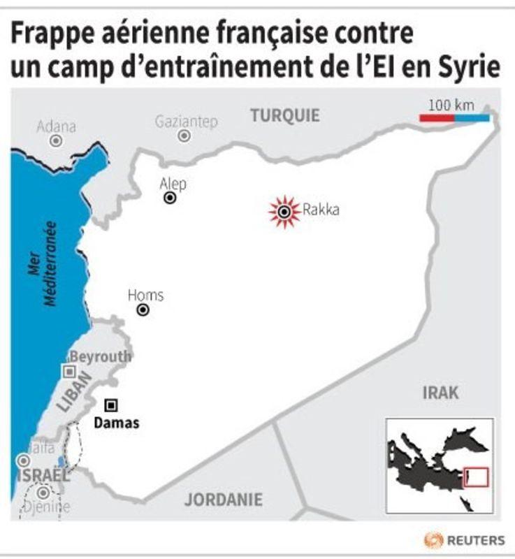 Nouvelle frappe française en Syrie contre l'EI à Rakka