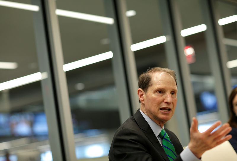 © Reuters. Senator Ron Wyden (D-OR) speaks with Reuters during an interview in Washington