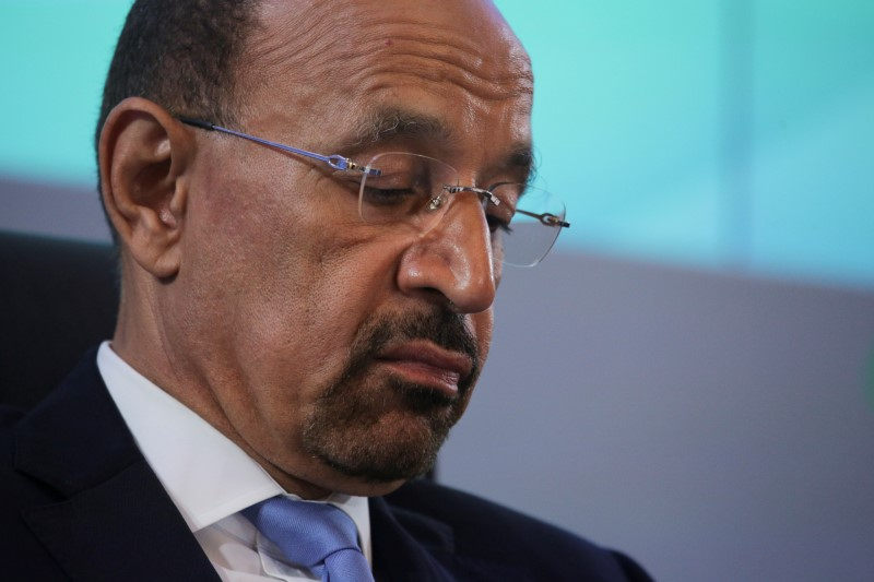 © Reuters. Saudi Arabian Energy Minister Khalid al-Falih attends a meeting of the 4th OPEC-Non-OPEC Ministerial Monitoring Committee in St. Petersburg