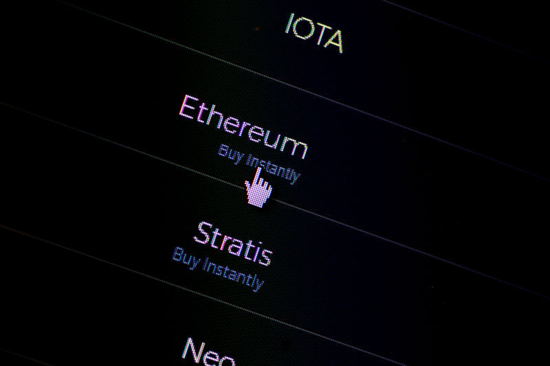 © Reuters. FILE PHOTO: Illustration photo of Cryptocurrencies on a website