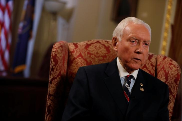 © Reuters. FILE PHOTO: Senator Orrin Hatch (R-UT), Chairman of the Senate Finance Committee, is seen during an interview on Capitol Hill in Washington