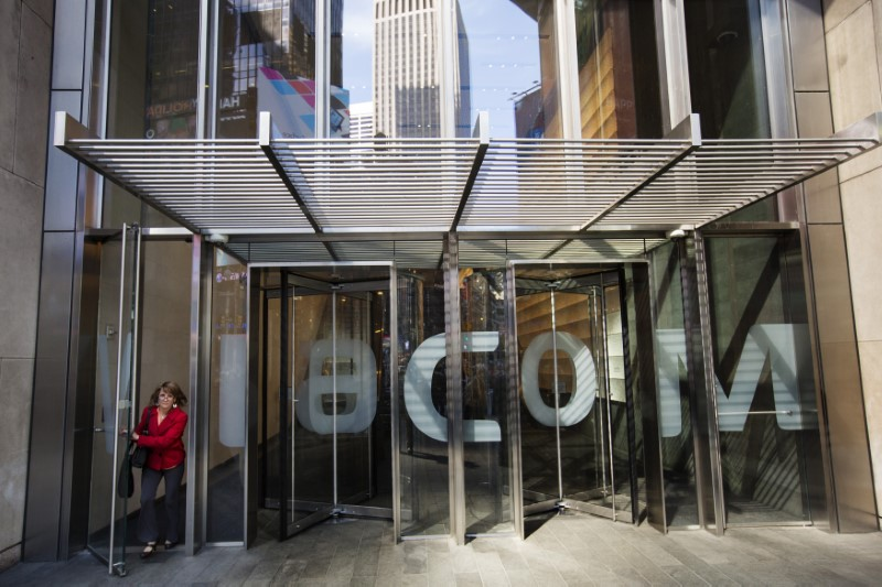 © Reuters. A woman exits the Viacom Inc. headquarters in New York