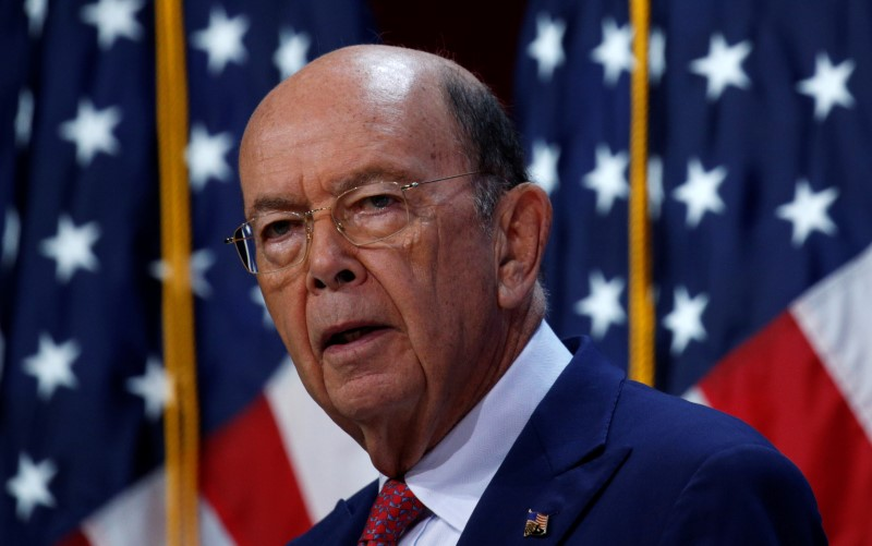 © Reuters. Wilbur Ross speaks at the SelectUSA Investment Summit in Fort Washington, National Harbor, Maryland