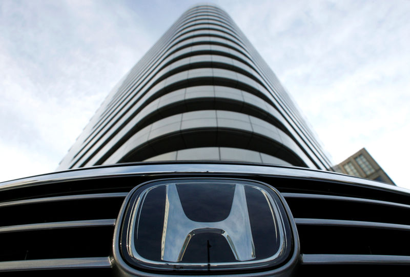FILE PHOTO The Logo Of Honda Motor Co Is Pictured In Front