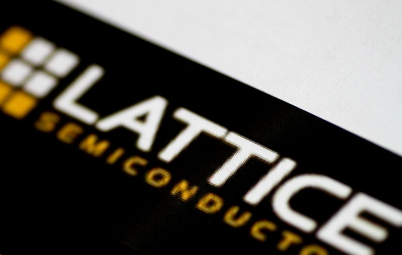 © Reuters. Illustration photo of the Lattice Semiconductor logo