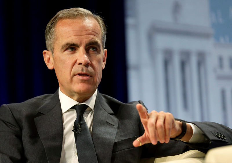© Reuters. Governor of the Bank of England Mark Carney speaks after delivering the Michel Camdessus Central Banking Lecture at the International Monetary Fund in Washington