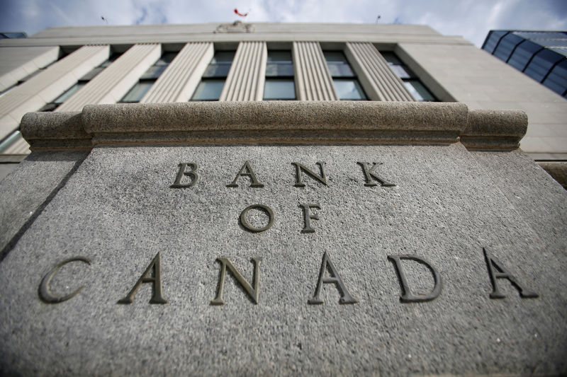 © Reuters. FILE PHOTO - A sign is pictured outside the Bank of Canada building in Ottawa