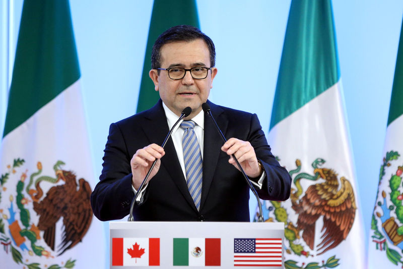 © Reuters. FILE PHOTO: Mexico's Economy Minister Ildefonso Guajardo addresses the media in Mexico City