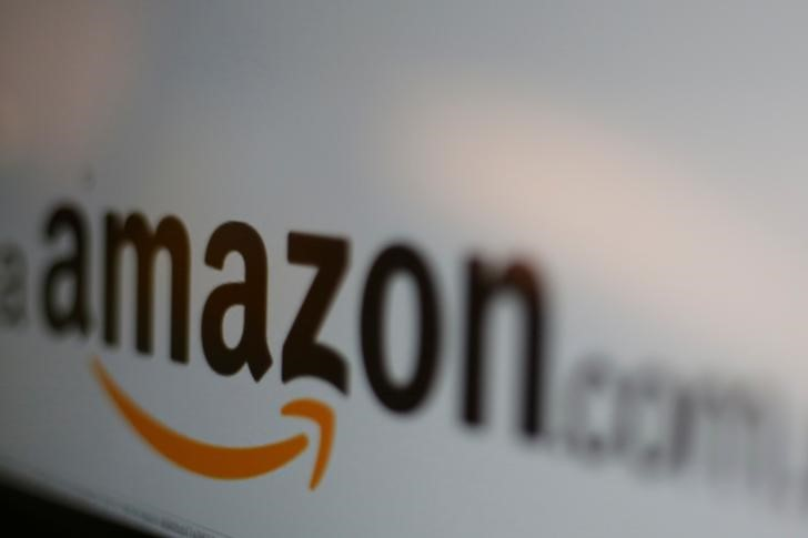 © Reuters. Amazon logo is pictured in Mexico Citу