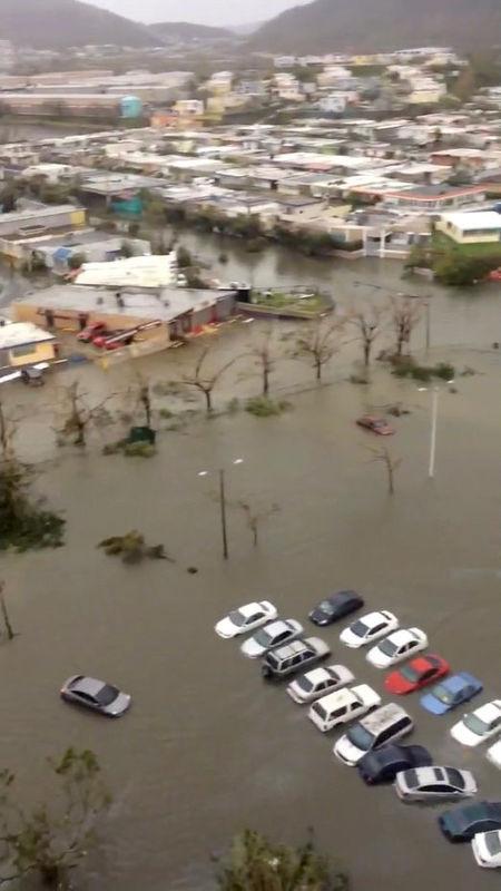 بويرتوريكو مهددة بانهيار سد جراء الفيضانات الناجمة عن الإعصار ماريا