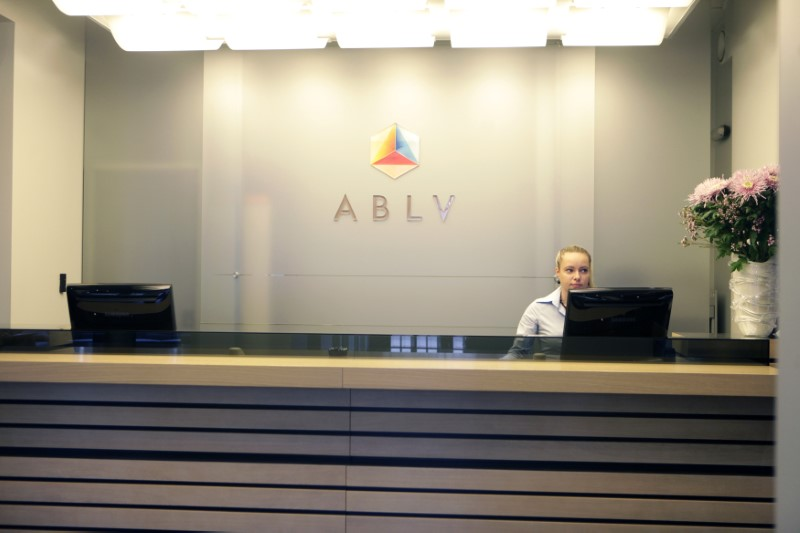 © Reuters. A view shows an ABLV Bank client service desk in Riga