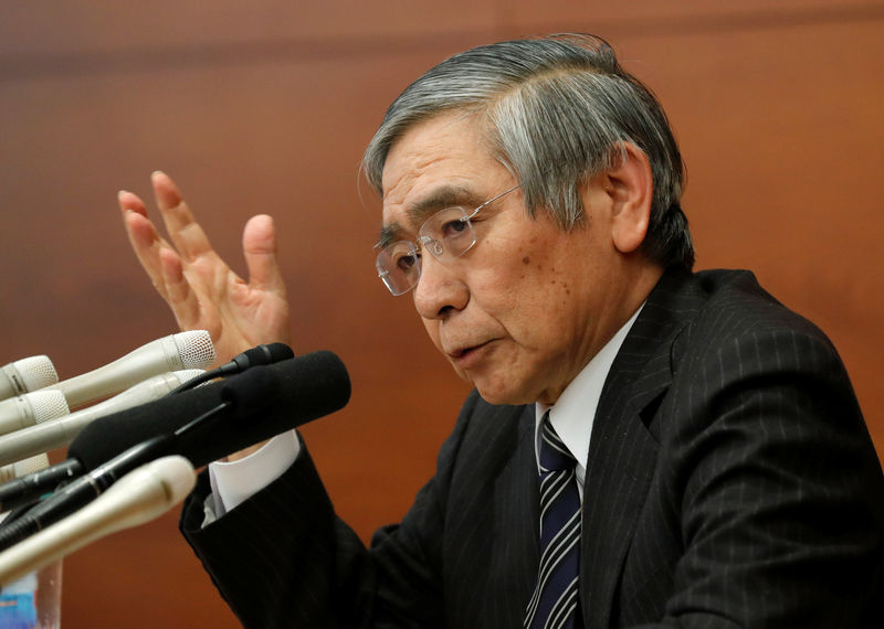 © Reuters. Bank of Japan (BOJ) Governor Haruhiko Kuroda attends a news conference at the BOJ headquarters in Tokyo