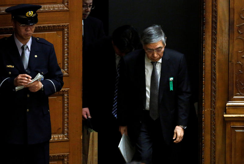 © Reuters. BOJ Governor Kuroda attends a lower house budget committee session at the parliament in Tokyo