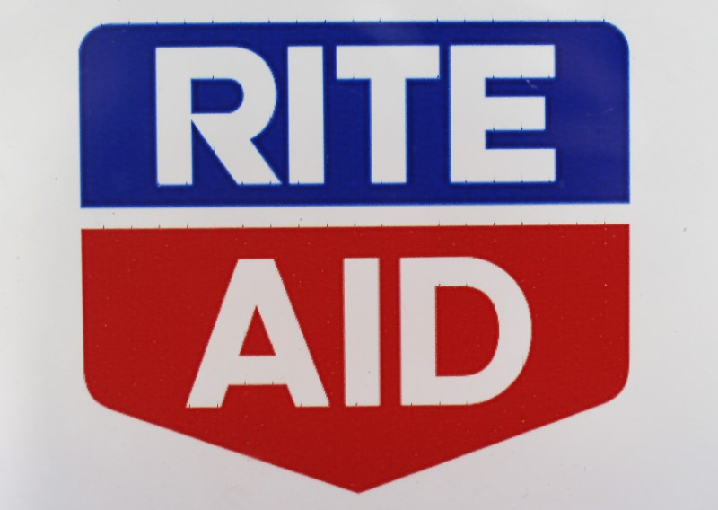 © Reuters. A Rite Aid logo is seen outside one of their stores in New York