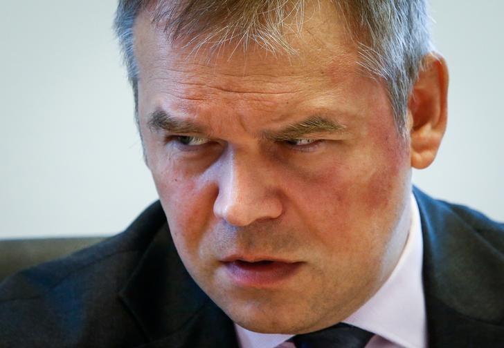 © Reuters. Зампред ЦБР Василий Поздышев во время интервью агентству Рейтер