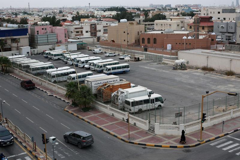 © Reuters. FILE PHOTO: Parking lot belonging to billionaire Maan al-Sanea is seen in Khobar