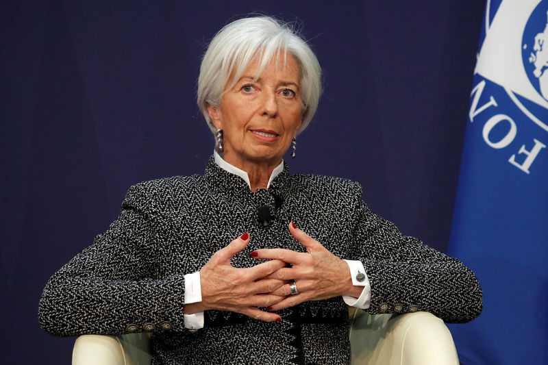 © Reuters. Christine Lagarde, Managing Director of the International Monetary Fund (IMF), attends a conference on