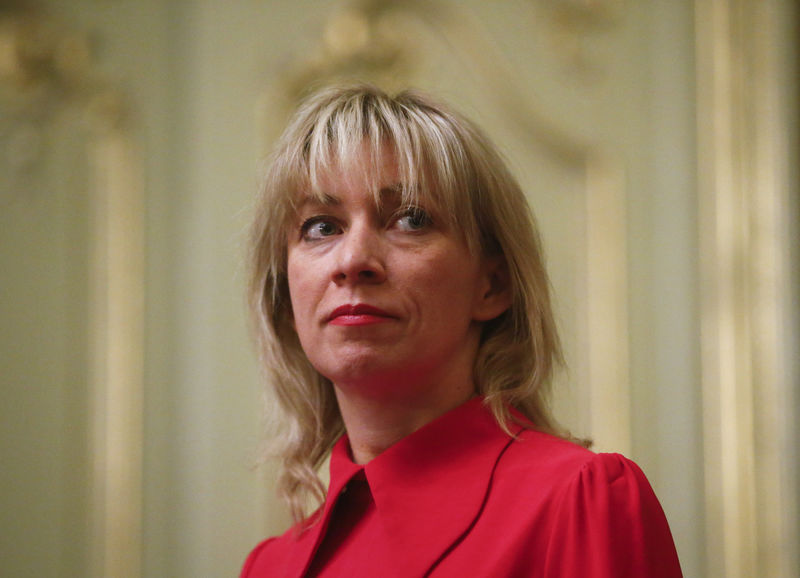 © Reuters. Russian Foreign Ministry spokeswoman Zakharova attends a news conference in Moscow
