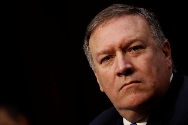 © Reuters. CIA Director Mike Pompeo testifies before the Senate Intelligence Committee on Capitol Hill in Washington