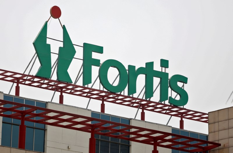 © Reuters. A Fortis hospital building is pictured in Gurgaon