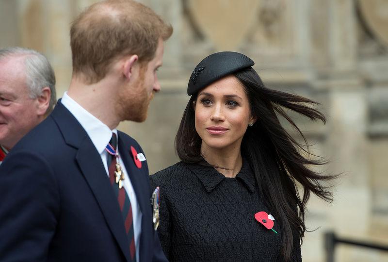 © Reuters. Príncipe Harry e a noiva Meghan Markle em Londres