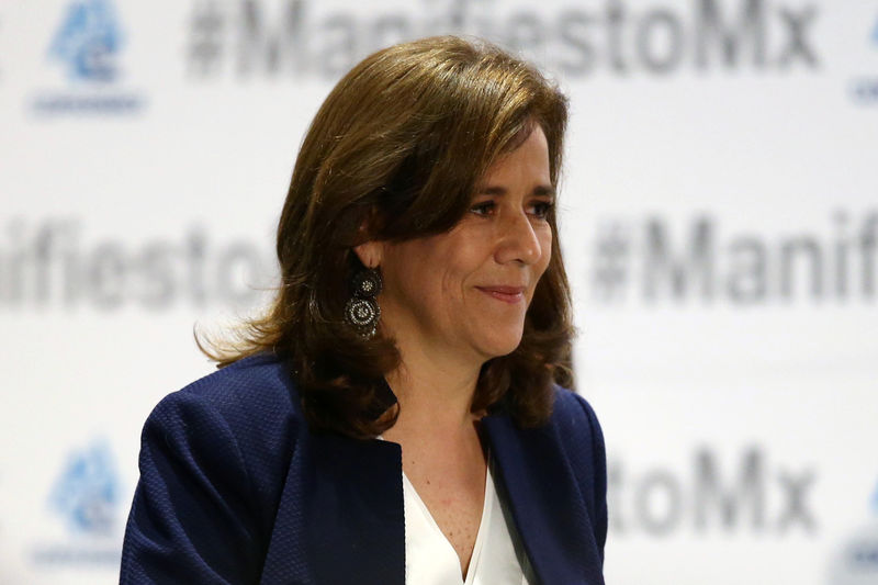 © Reuters. Margarita Zavala durante evento na Cidade do México