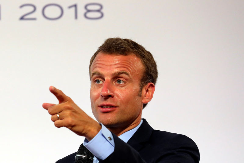 Macron tells global tech CEOs: 'There is no free lunch' By ...