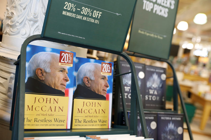 © Reuters. Copies of U.S. Senator John McCain's book